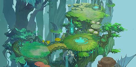 风暴大陆游戏原画欣赏 神秘精灵奇幻之城<二>