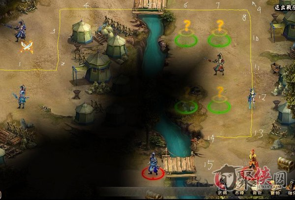 龙将官渡之战副本通关路线图 只要15个虎符即可过关