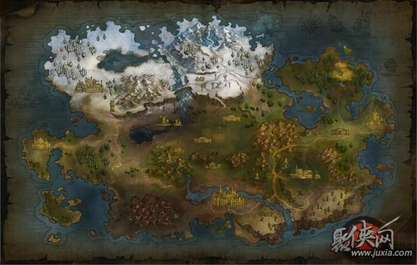 斯塔尔兰大陆地图