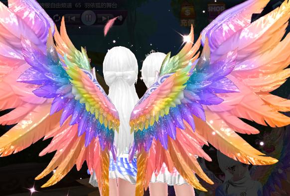 touch炫舞处女座白色粉色翅膀效果图