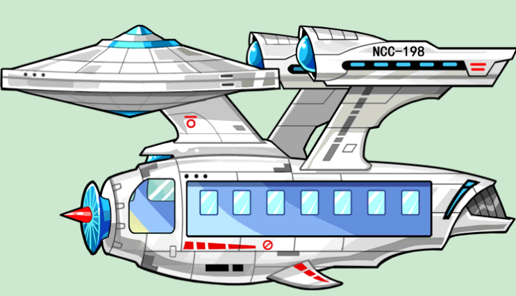 太空飞船矢量图