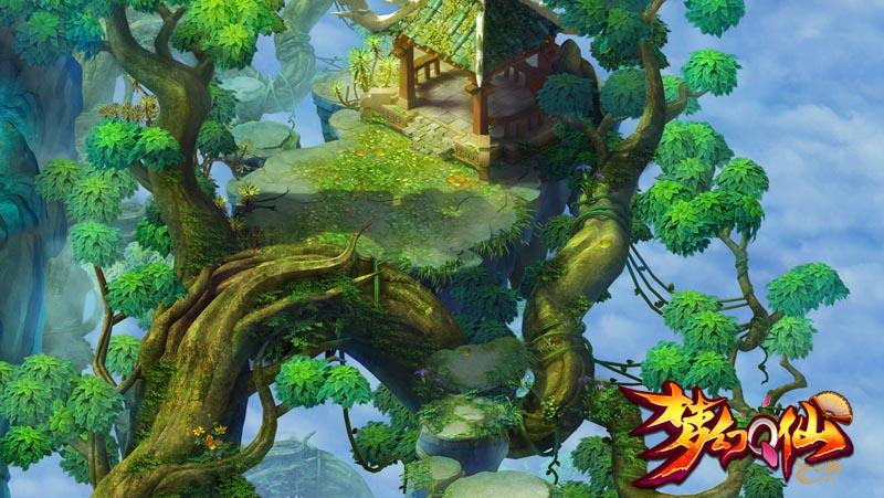 腾讯《梦幻q仙》游戏场景宣传视频 画面唯美气势磅礴图片