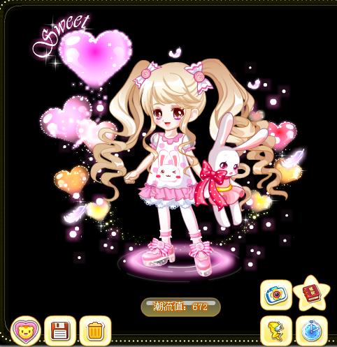 奥比岛粉色女神可爱装搭配秘籍