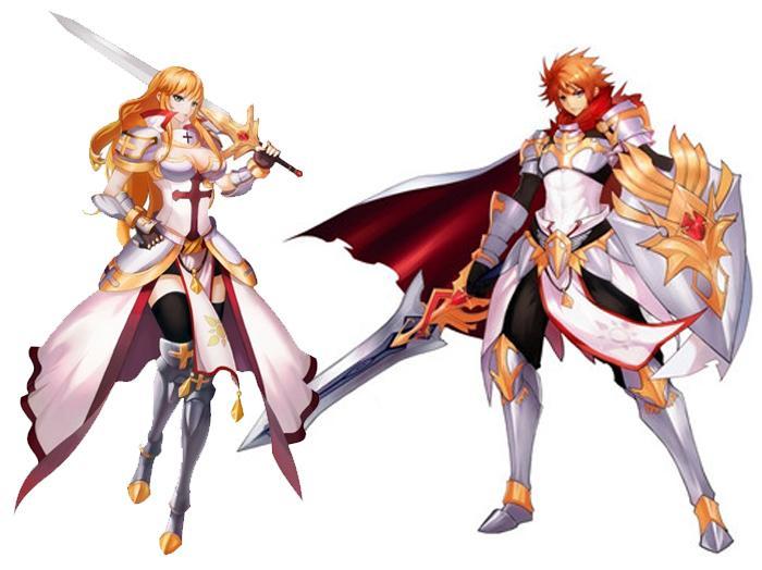 审判并且凭借盾牌维护正义骑士职业属于近战型人物