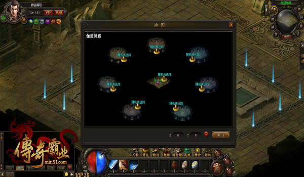 传奇霸业伽蓝神殿地图