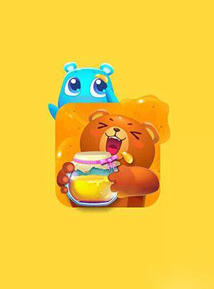开心消消乐可爱小动物清新壁纸