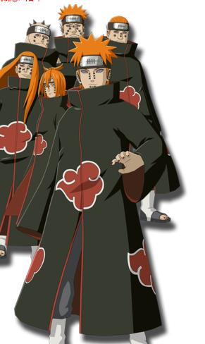 火影忍者ol晓组织成员的象征