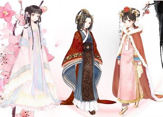 卡通古风新娘新郎图片