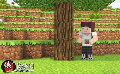 我的世界砍树技巧 四格粗树木怎么砍