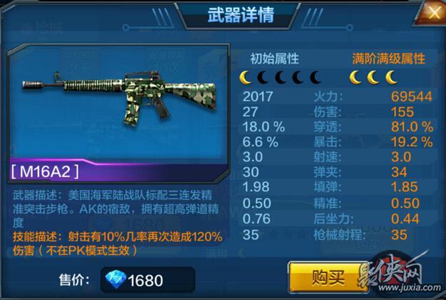 全民突击M16A2属性
