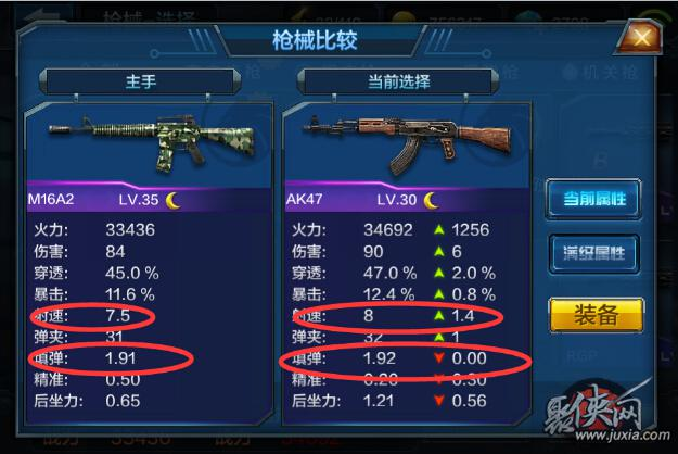全民突击M16A2和AK47对比
