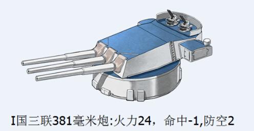 戰艦少女I國三聯381毫米炮